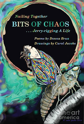 Digital Art - Bits Of Chaos Book Cover by Carol Jacobs