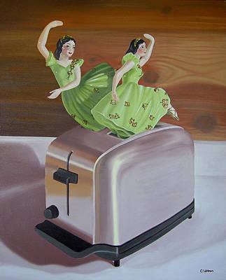 Toaster Painting - Bits Of Nostalgia by Carol Ubben