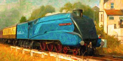 Digital Art - Bittern Locomotive by Chuck Mountain