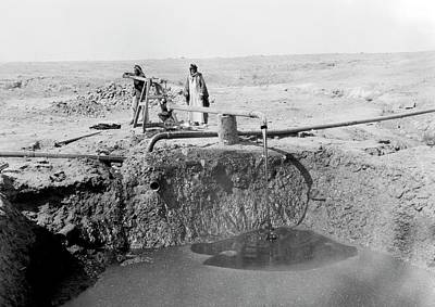 Bitumen Well In Iraq Art Print by Library Of Congress