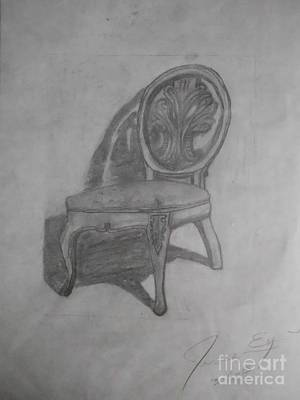 Art By James Eye Drawing - Bivianas Throne by James Eye