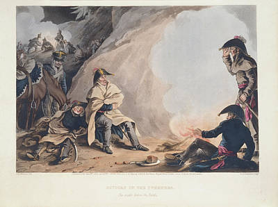 Historic Battle Site Photograph - Bivouac In The Pyreness by British Library