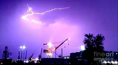 Captwolf96 Photograph - Biw Lightning by Donnie Freeman