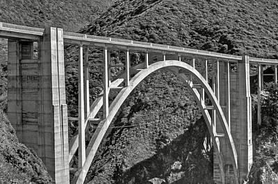 Buildings Photograph - Bixby Bridge 2 by SC Heffner