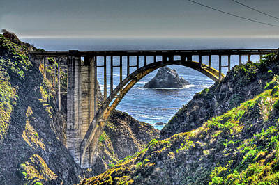 Photograph - Bixby Bridge 3 by SC Heffner