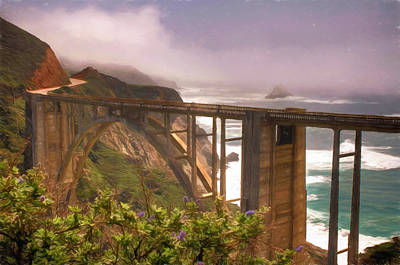 Bixby Bridge At Big Sur Art Print by Donna Kennedy