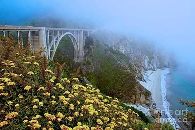 Bixby Bridge Big Sur California Art Print by Mel Ashar
