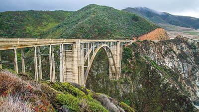 Photograph - Bixby Bridge Big Sur by Pierre Leclerc Photography