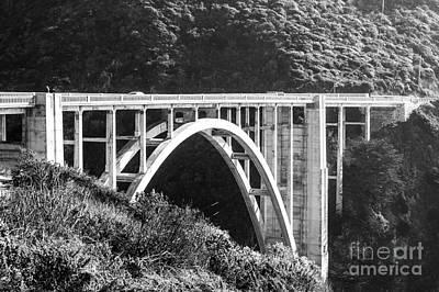 Photograph - Bixby Bridge Bw by Suzanne Luft