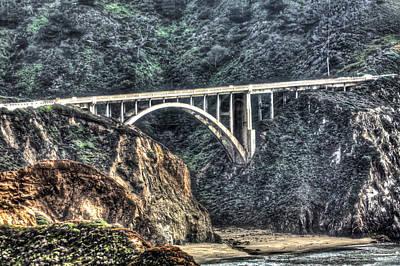 Photograph - Bixby Bridge Close Up 2 by SC Heffner