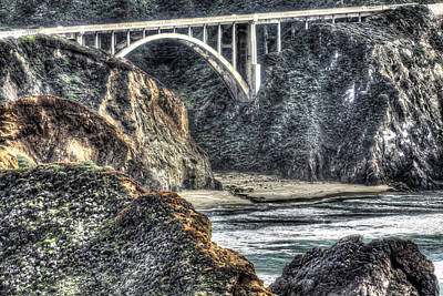 Photograph - Bixby Bridge Close Up by SC Heffner