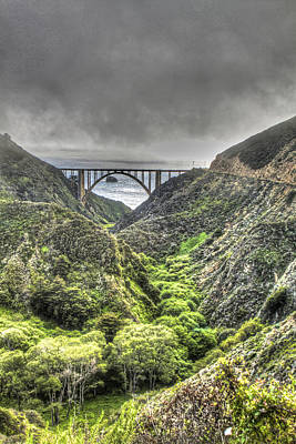 Photograph - Bixby Bridge In Portrait by SC Heffner