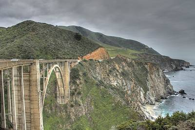 California Ocean Photograph - Bixby Bridge by Jane Linders