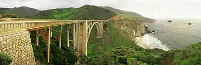 Bixby Bridge On The Big Sur Coast Art Print