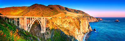 Of Big Sur Beach Photograph - Bixby Creek Arch Bridge by Emmanuel Panagiotakis