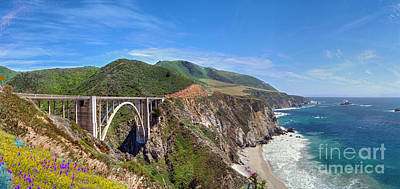 Photograph - Bixby Creek Bridge Coast Highway 1 Big Sur Ca by David Zanzinger