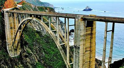 Photograph - Bixby Creek Bridge Panorama by Benjamin Yeager