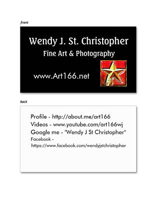 Digital Art - Business Card by Wendy J St Christopher