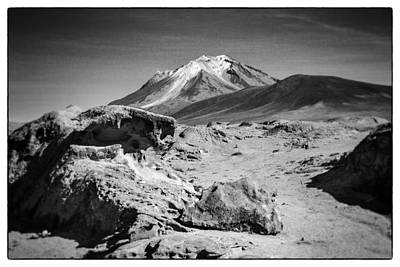Bizarre Landscape Bolivia Black And White Select Focus Art Print by For Ninety One Days