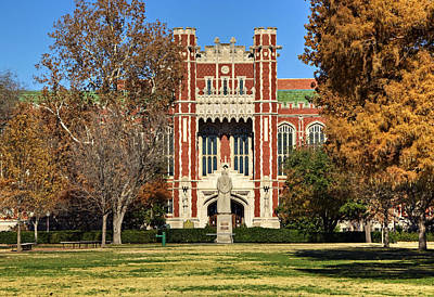 Sooners Photograph - Bizzell Memorial Library by Ricky Barnard