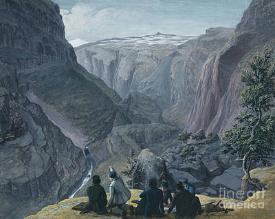 Bjonnestigvarden Print by Johannes Flintoe