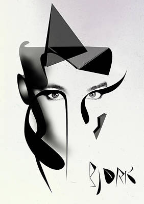 Feeling Digital Art - Bjork by PandaGunda