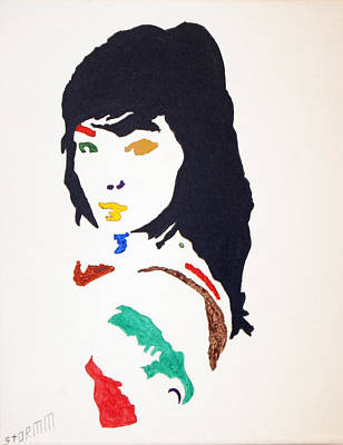 Singer Songwriter Painting - Bjork by Stormm Bradshaw