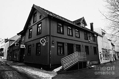 bla rock cafe Tromso troms Norway europe Art Print by Joe Fox