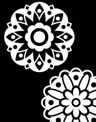 Black & White Mandala II Art Print