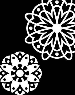 Black & White Mandala Art Print
