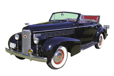 American Cars Photograph - Black 1938 Cadillac Lasalle by Keith Webber Jr