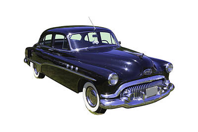 Photograph - Black 1951 Buick Eight Antique Car by Keith Webber Jr