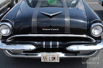 Photograph - Black 1955 Pontiac by Mark Spearman