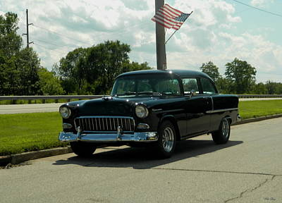 Photograph - Old Black Chevy by Wild Thing