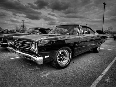 Photograph - Black '69 Plymouth Road Runner 001 by Lance Vaughn