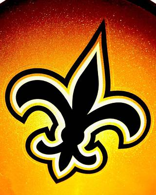 Fleur De Lis Photograph - Black And Gold by Benjamin Yeager