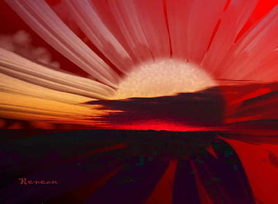 Photograph - Black And Red Sunrise Sunset by Sadie Reneau