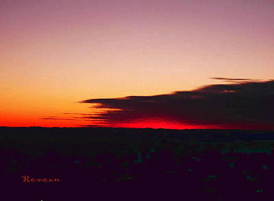 Photograph - Black And Red Washington State Sunset by Sadie Reneau