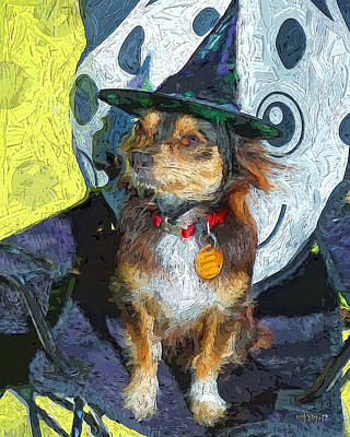 Photograph - Black And Tan Chihuahua - Such A Good Little Witch by Rebecca Korpita
