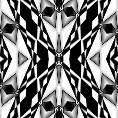 Digital Art - Black And While Landscape 3 by Marcela Bennett