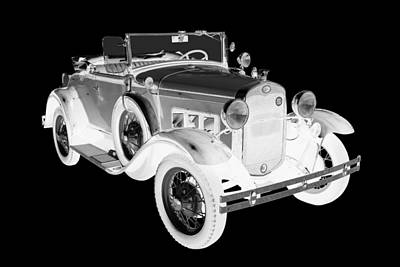 Photograph - Black And White 1931 Ford Model A Cabriolet by Keith Webber Jr
