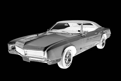 Photograph - Black And White 1967 Buick Riviera by Keith Webber Jr