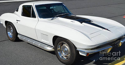 Photograph - Black And White '67 Corvette by Mark Spearman