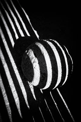 Black And White Abstract Lines And Shapes Stark Contrast Print by Matthias Hauser