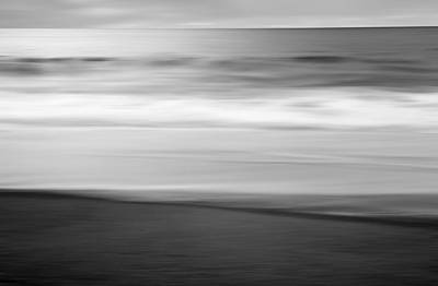 Ocean Photograph - Black And White Abstract Seascape No. 08 by Pictorial Decor