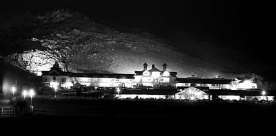 Photograph - Black And White At Night by Robert  Rodvik