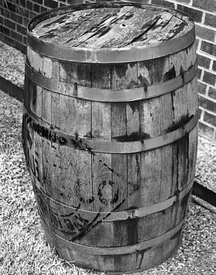 Photograph - Black And White Barrel by Maggy Marsh