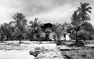 Photograph - Black And White Beach House by John Rizzuto