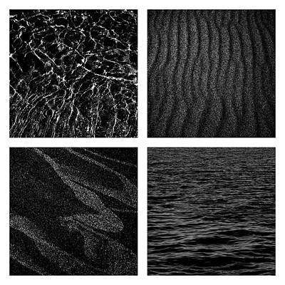 Photograph - Black And White Beach by Michelle Calkins