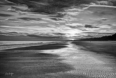 Black And White Beach Art Print by Phill Doherty
